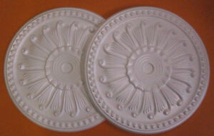 *Decorators Bargain* - 2 x Polystyrene Ceiling Rose 400mm   Slightly Shop Soiled