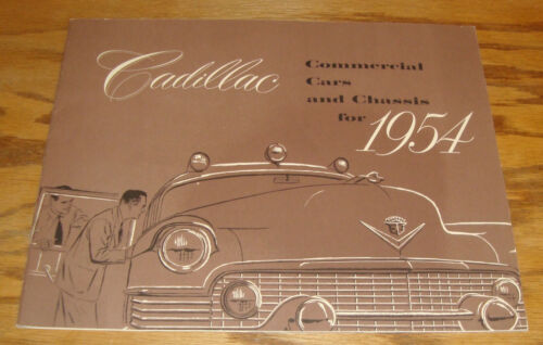 Original 1954 Cadillac Commercial Car & Chassis Deluxe Sales Brochure 54 Hearse
