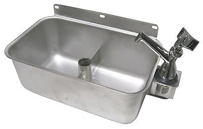 Stainless Steel Table Mount Dipperwell Sink W No Lead Faucet Nsf Hs-dsreg