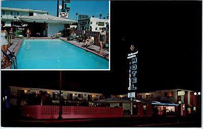 HOLLYWOOD, CA   Hollywood PREMIERE MOTEL  Neon  c1950s  Roadside   Postcard