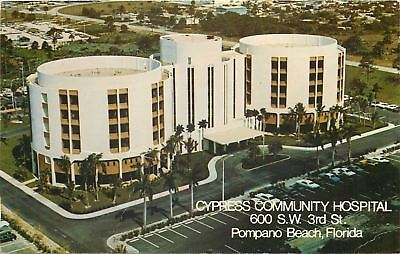 Pompano Beach Florida Cypress Community Hospital Acute Care 1970S Postcard