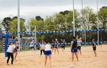 Play Beach Volleyball