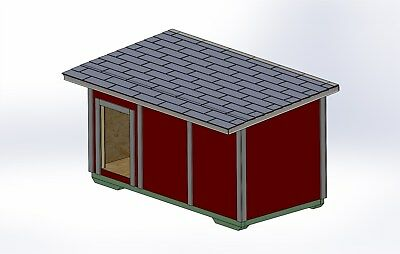 Plans for a Large Breed Dog House w/ hinged roof for cleaning (DIY Plans)
