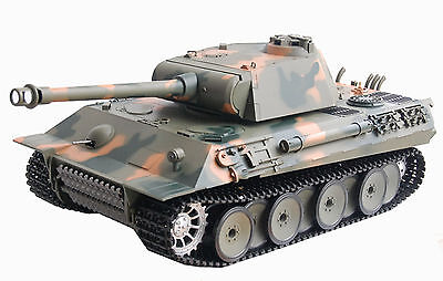 RC Panzer German Panther 1:16 Heng Long Rauch&Sound + Metallgetriebe + 2,4 Ghz