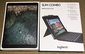 Apple iPad Pro and logitech keyboard combo!!  10.5 inch 64 GB!!