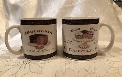 ONEIDA SWEETS MUG PAIR- CHOCOLATE VELVET CAKE & WORLD'S BEST (Best White Chocolate Cake)