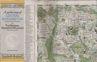Map Central Washington USA 1948 2-sided + suburbs + index HL3.237