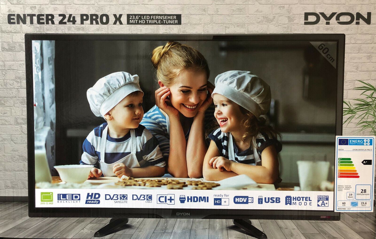 Dyon 24 Zoll Fernseher LED TV Enter Pro X HD Triple Tuner HDMI EEK: A Neu & OVP