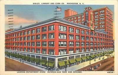 Rochester New York~Sibley Lindsay and Curr Co~Department Store~1940s Linen (Rochester New York Department Stores)
