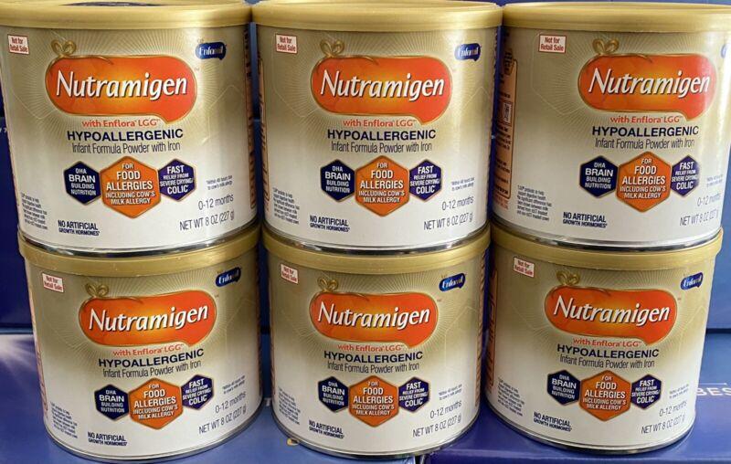 6 Cans Nutramigen Enfamil Infant Baby Formula 8oz Powder Exp. April 2022