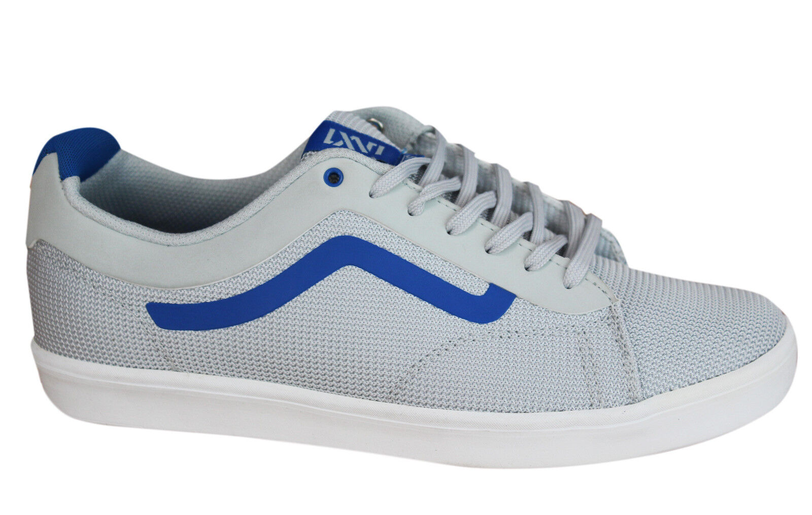 d7472195561c Vans Off The Wall Ortho Mens Trainers Lace Up Shoes Grey Blue ...