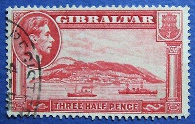 1938 GIBRALTAR 1 1/2d SCOTT# 109b S.G.# 123a USED  CS02026