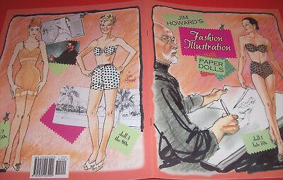 Jim Howard's Designer FASHION ILLUSTRATION Paper Doll Book--SPECIAL PRICE!