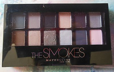 Maybelline THE SMOKES 12 Palette Color Eyeshadow New! 13 looks in 1