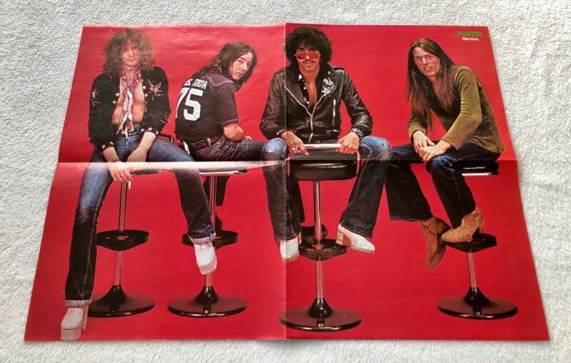 THIN LIZZY 1976  PHIL LYNOTT Swedish Poster Magazine 1970s Vintage