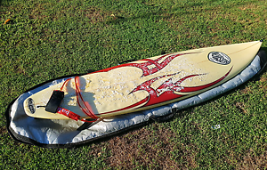 """Brothers Neilsen Surfboard 6'6"""" incl cover and leash Windsor Brisbane North East Preview"""