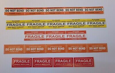 Fragile Sticker 1.45 X 0.62 Fragile Handle With Care Stickers Do Not Bend