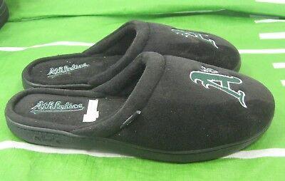 Reebok Mens A's NFL Slippers, Winter Black/Green Size (Reebok Black Slippers)