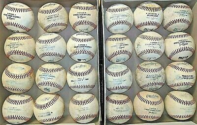 2 dozen used baseballs (all leather, MLB/MILB baseballs)
