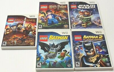 Nintendo Wii LEGO BATMAN 1 & 2 Star Wars Harry Potter Lord Of The Rings TESTED U