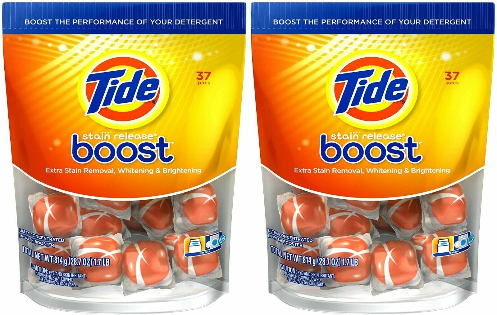 Tide Boost Laundry Detergent Pods Extra Stain Release Boost 74 Count Detergents, Softeners & Stain Removers