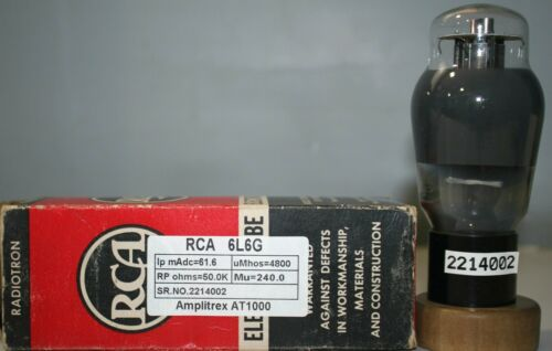 6L6G RCA NOS NIB Made in U.S.A  Amplitrex Tested#2214002