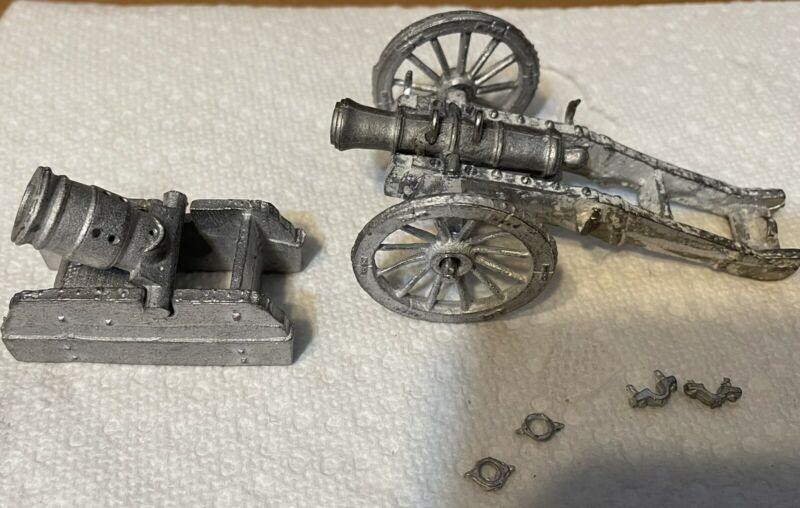 Revolutionary War Cannon And Mortar 54mm Metal Castings