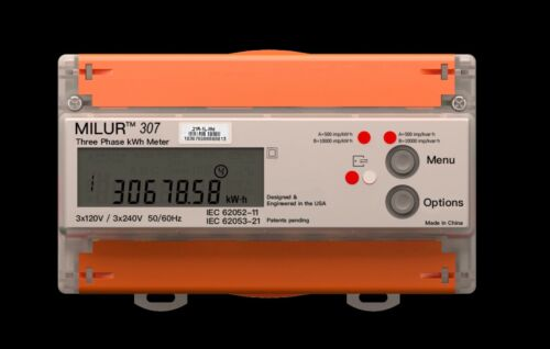 Electricity Meter Three Phase Smart Kilowatt kWh Digital Voltage LCD