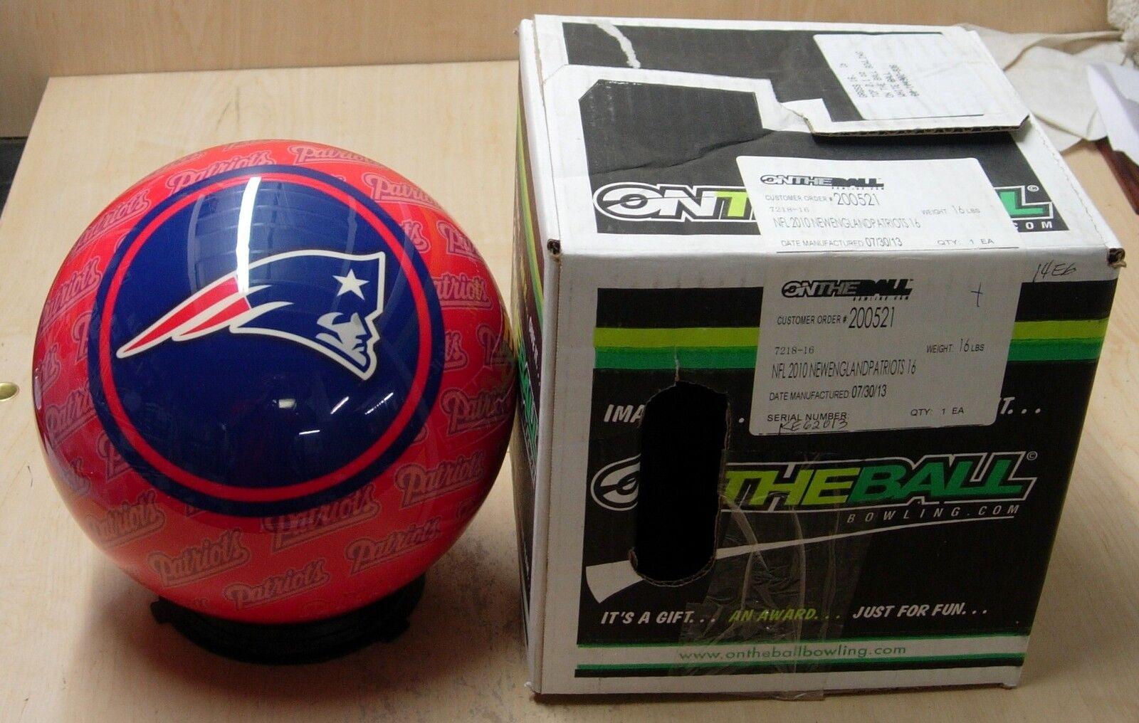 16 073013 Bowling Ball Otbb Viz-a-ball Nfl Rare 2010 England Patriots