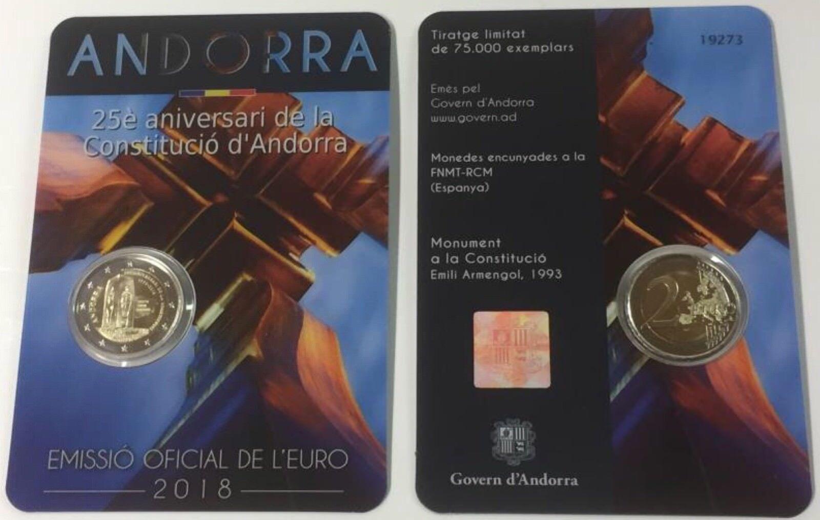 2 Euro Gedenkmünze Andorra