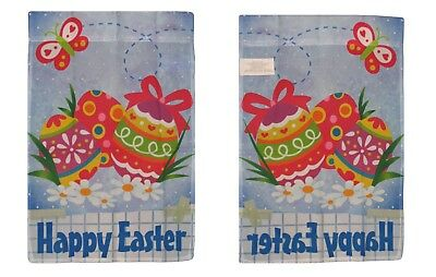 12x18 Happy Easter Eggs Banner Sleeved Garden 12