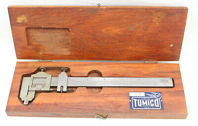 Vintage Tumico Tubular Micrometer Co. No.75-6 In Wood Case