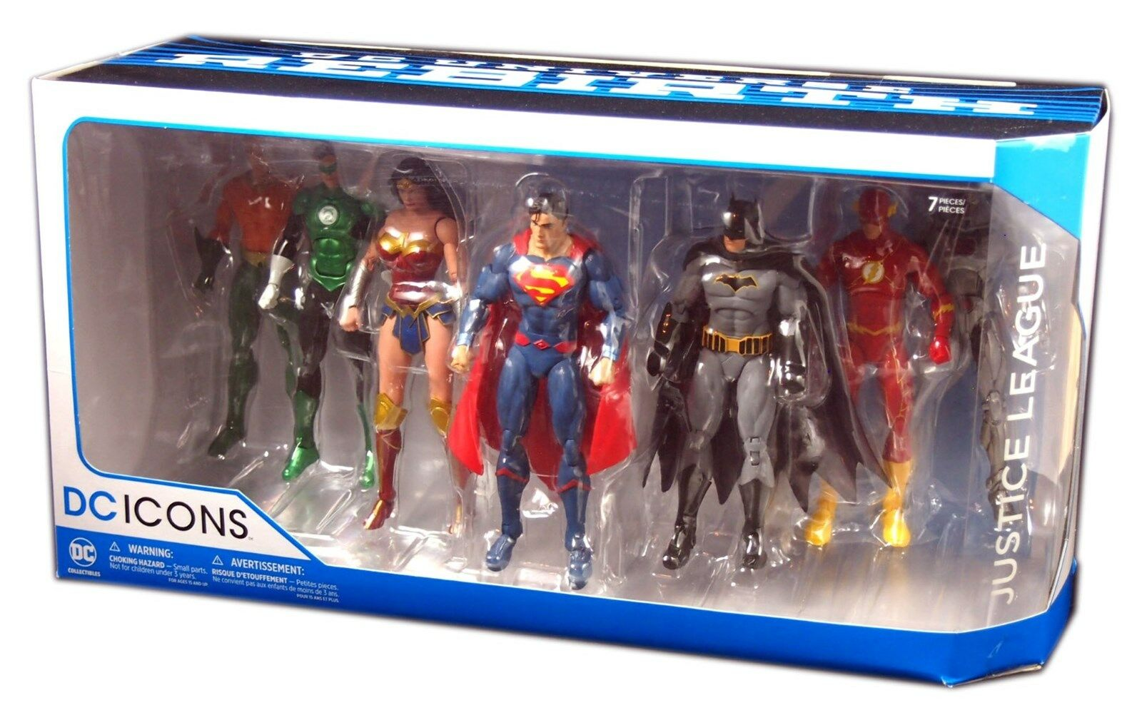 DC Comics Universe Rebirth Justice League 7-Pack Icons Actio
