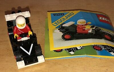Legos 1986 Dragster Legoland Town System #1528 Complete w/Instructions