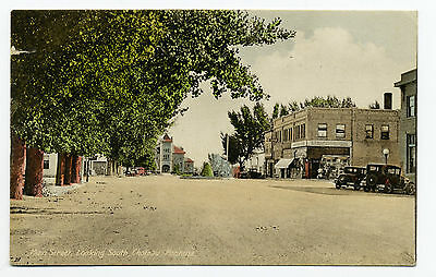 MT Montana Choteau Main Street Looking South Posted 1914 Early DB