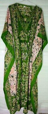Ethnische Print lange Kaftan Sommer Strandkleid lose Cover Up Kleid Freizeitklei - Ethnische Print Kleid