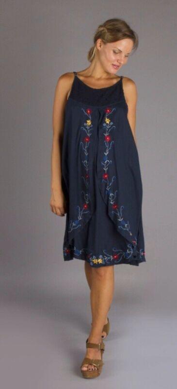Fillyboo Maternity Dress, Small, Nursing Dress, Boho, Navy, Dreamfeed