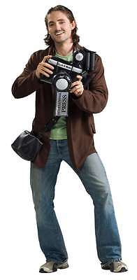 Paparazzi Photographer Press Reporter Fancy Dress Up Halloween Adult Costume