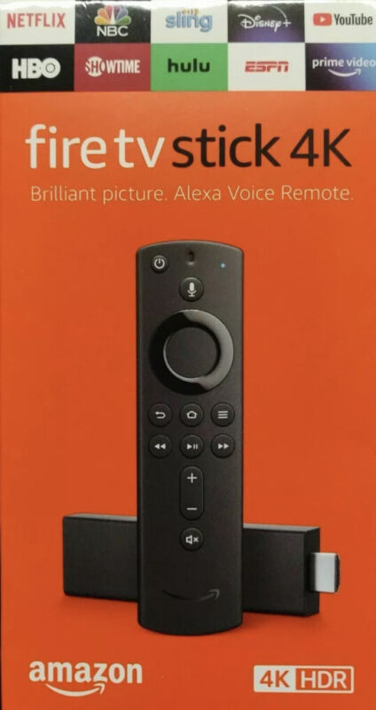 Amazon Fire Stick 4K w/Alexa Voice Remote Latest Version Fast Shipping Brand New