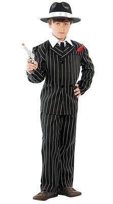 Jungen 1920er Jahre Nadelstreifen Bugsy Malone Gangster Halloween Kostüm Kleid