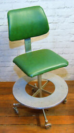 Draughtmans machinist swivel chair office industrial vintage retro vintage arcitect mancave seating