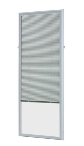 ODL- Entry Point French Door Cordless White Mini Blinds Mode
