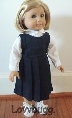 "Lovvbugg School Uniform for 18"" American Girl Doll Clothes"