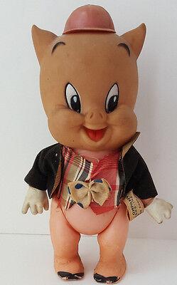 Vintage 1970 Dakin porky pig plastic 7.5 inch figure