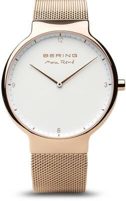Bering Time Reloj - Max Rene - Hombre Pulido Color Oro Rosa...