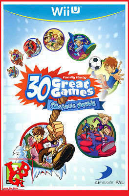 30 GREAT GAMES OBSTACLE ARCADE Family Wii-U Wii U Nintendo WiiU 2 Jeux Video