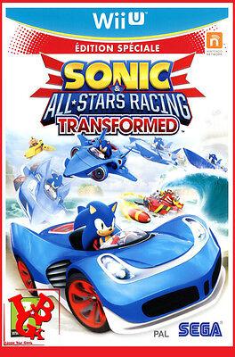 SONIC ALL STARS RACING TRANSFORMED  Wii-U Wii U Nintendo WiiU 2 Jeux Video