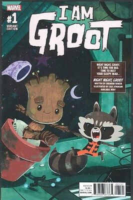 I AM GROOT #1 NIGHT NIGHT GROOT VARIANT COVER  NM 2017 GUARDIANS OF THE GALAXY