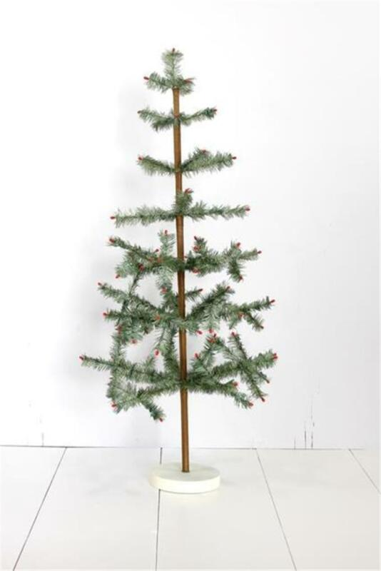 "Cody Foster 36"" Green Tabletop Christmas Feather Tree"