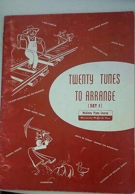 Set 1 Sheet Music (Twenty Tunes to Arrange (Set 1) Sheet music – 1953 by mcginley)